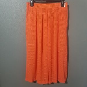 Josephine Orange Skirt w/ White Polka Dots